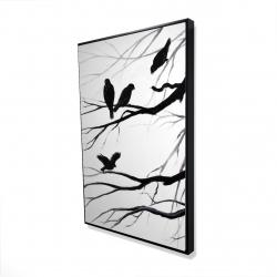 Framed 24 x 36 - 3D - Silhouette of birds