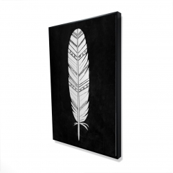 Framed 24 x 36 - 3D - Native american feather
