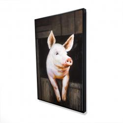 Framed 24 x 36 - 3D - Smiling pig