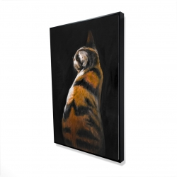 Framed 24 x 36 - 3D - Spotted cat