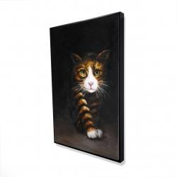 Framed 24 x 36 - 3D - Discreet cat