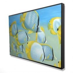Framed 24 x 36 - 3D - Butterfly fishes