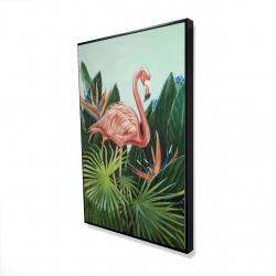 Framed 24 x 36 - 3D - Tropical flamingo