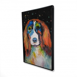 Framed 24 x 36 - 3D - Colorful dog