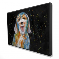 Framed 24 x 36 - 3D - Abstract labradoodle
