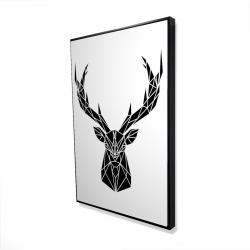 Framed 24 x 36 - 3D - Geometric deer head