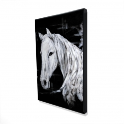 Framed 24 x 36 - 3D - Abstract horse profile view
