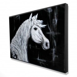 Framed 24 x 36 - 3D - Horse profile view