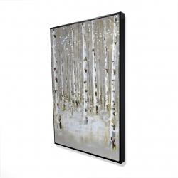 Framed 24 x 36 - 3D - Birch forest by winter