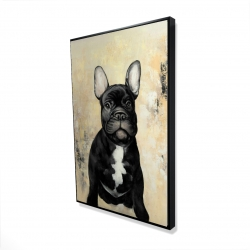 Framed 24 x 36 - 3D - French bulldog