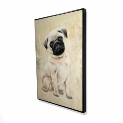 Framed 24 x 36 - 3D - Small pug