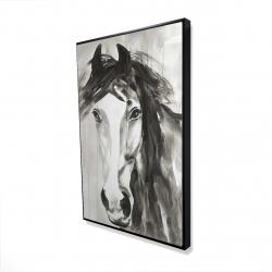 Framed 24 x 36 - 3D - Beautiful wild horse