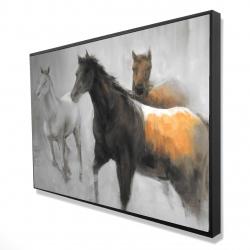 Framed 24 x 36 - 3D - Abstract herd of horses