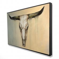 Framed 24 x 36 - 3D - Bull skull