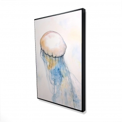 Framed 24 x 36 - 3D - Watercolor jellyfish