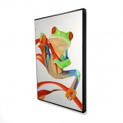 Framed 24 x 36 - 3D - Red-eyed frog