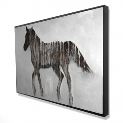 Framed 24 x 36 - 3D - Gambading abstract horse