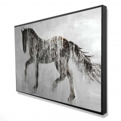Framed 24 x 36 - 3D - Horse brown silhouette
