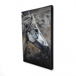 Framed 24 x 36 - 3D - Side of a wild horse