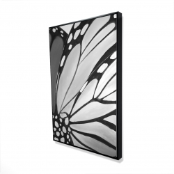 Framed 24 x 36 - 3D - Monarch wings closeup