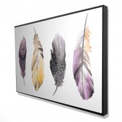 Framed 24 x 36 - 3D - Bohemian feather set