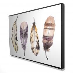 Framed 24 x 36 - 3D - Purple feather set