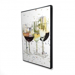 Framed 24 x 36 - 3D - Beautiful wine glasses