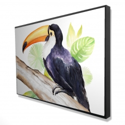 Framed 24 x 36 - 3D - Toucan perched
