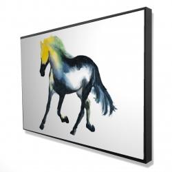 Framed 24 x 36 - 3D - Galloping horse