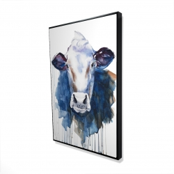 Framed 24 x 36 - 3D - Watercolor cow