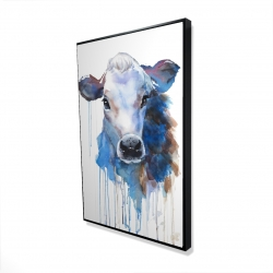 Framed 24 x 36 - 3D - Watercolor jersey cow