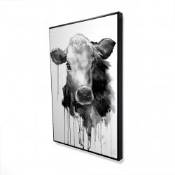 Framed 24 x 36 - 3D - Jersey cow