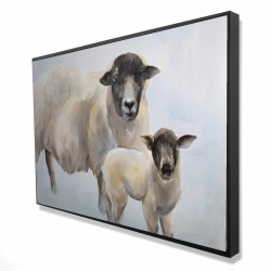 Framed 24 x 36 - 3D - Sheep and its baby