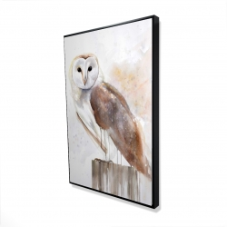 Framed 24 x 36 - 3D - Barn owl