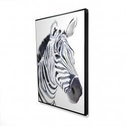 Framed 24 x 36 - 3D - Watercolor zebra