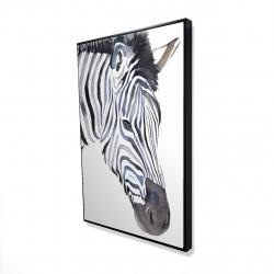 Framed 24 x 36 - 3D - Zebra