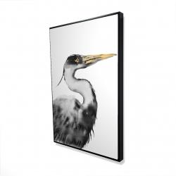 Framed 24 x 36 - 3D - Great heron