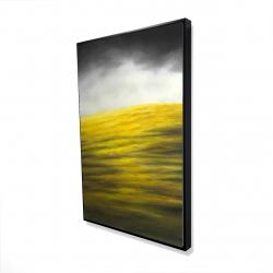 Framed 24 x 36 - 3D - Yellow hill