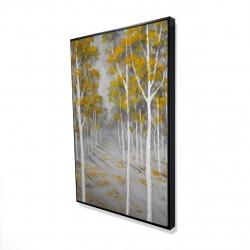 Framed 24 x 36 - 3D - Birch forest