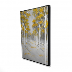 Framed 24 x 36 - 3D - Yellow birch forest