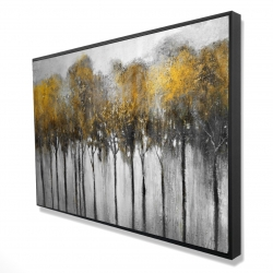 Framed 24 x 36 - 3D - Abstract yellow forest