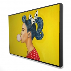 Framed 24 x 36 - 3D - Retro woman with beautiful ponytail