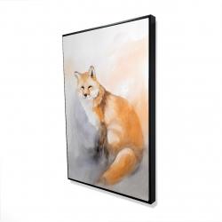 Framed 24 x 36 - 3D - Watercolor fox