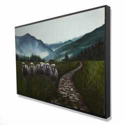 Framed 24 x 36 - 3D - Sheep in the countryside
