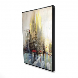 Framed 24 x 36 - 3D - Abstract rainy street