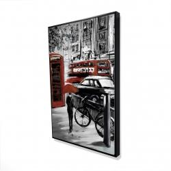 Framed 24 x 36 - 3D - European street