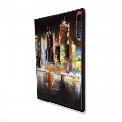 Framed 24 x 36 - 3D - Cityscape by night