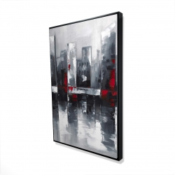 Framed 24 x 36 - 3D - Abstract cityscape