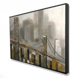 Framed 24 x 36 - 3D - Bridge by a cloudy day
