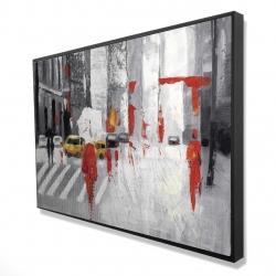 Framed 24 x 36 - 3D - Abstract cloudy city street
